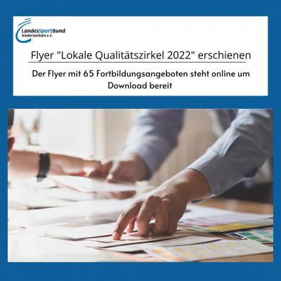 """Flyer """"Lokale Qualitätszirkel 2022"""" erschienen"""