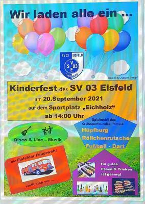 Foto zur Meldung: Kinderfest auf dem Sportplatz