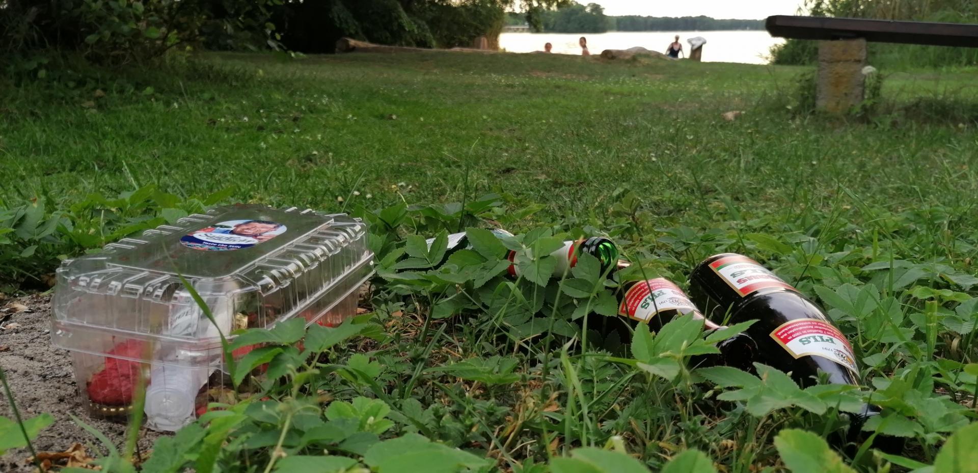 Müll am Klein Köriser See. Foto: Dörthe Ziemer