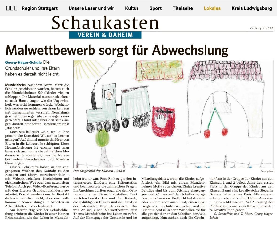 Bericht aus der Marbacher Zeitung