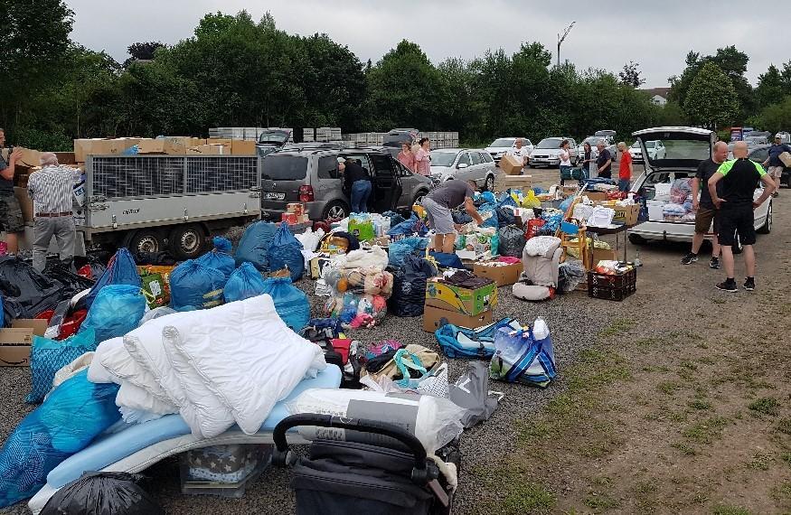 Spontane Spendenaktion in Großenlüder für die Opfer der Flutwasserkatastrophe