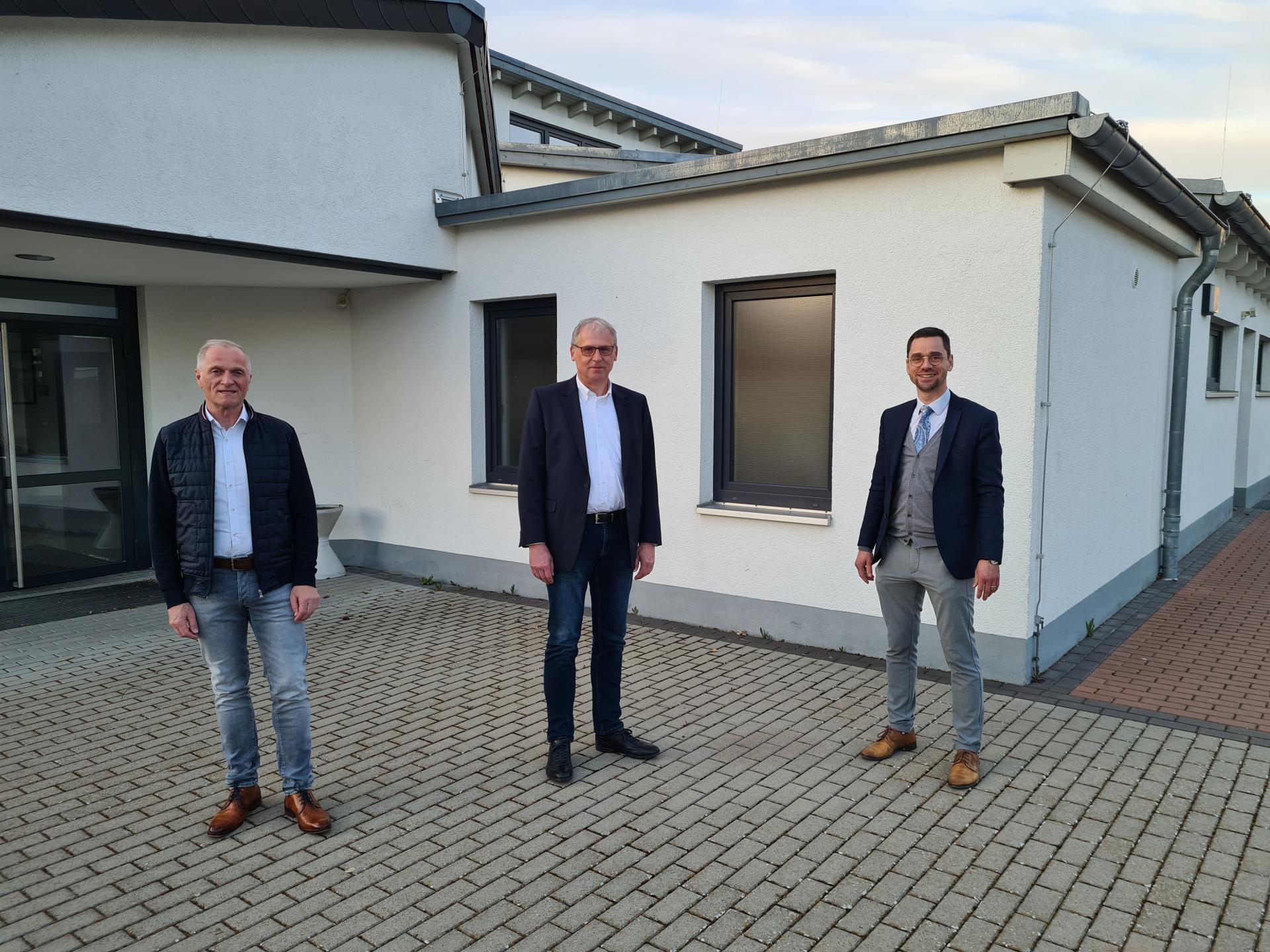 Ortsbeirat Müs, v.l. Armin Sopp, Edgar Möller, Florian Fritzsch