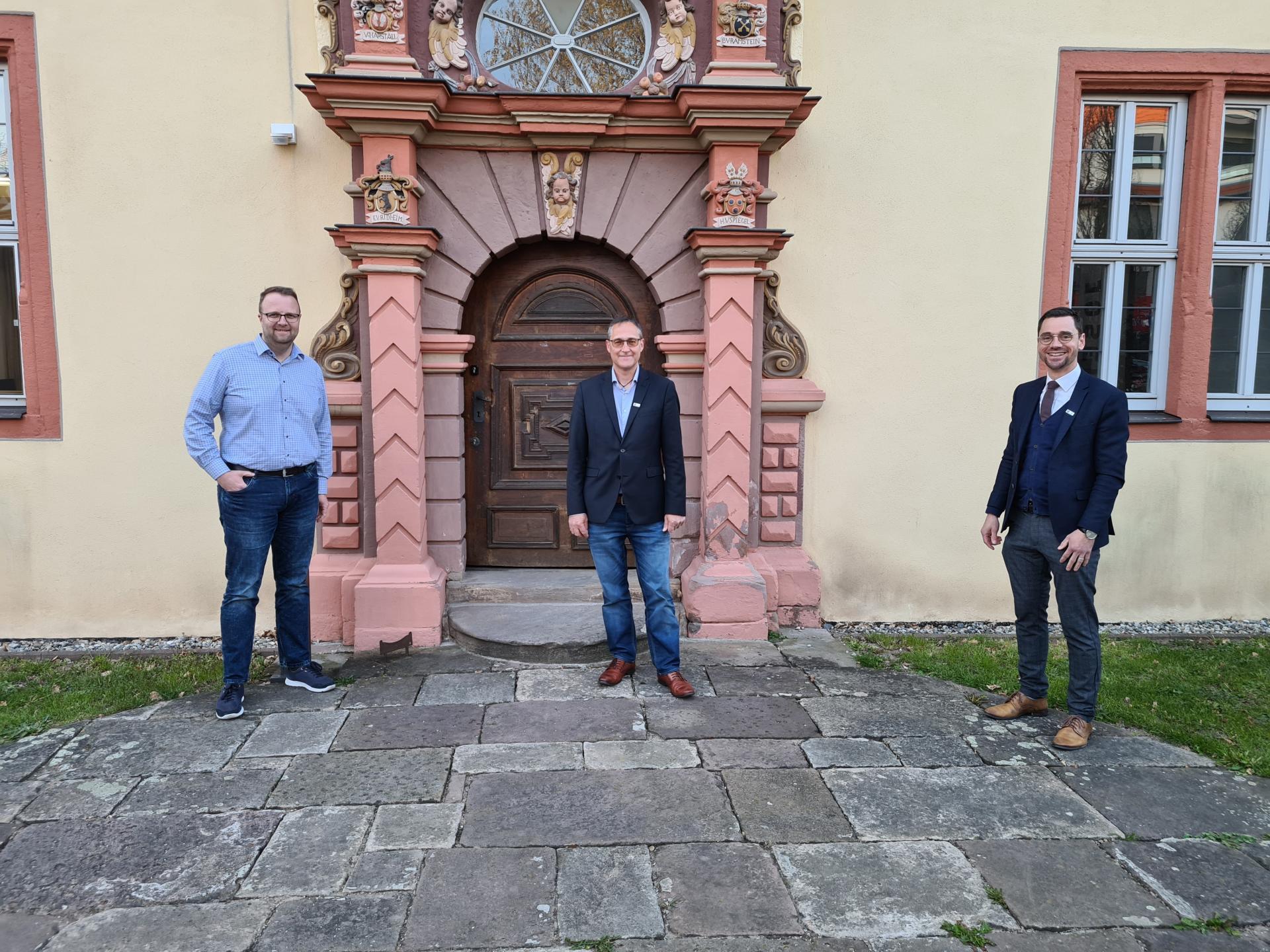 Ortsbeirat Großenlüder, v.l. Tobias Grosch, Jürgen Hübl, Florian Fritzsch