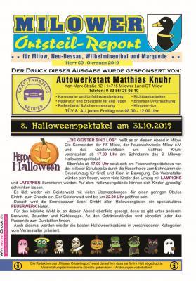 Vorschaubild zur Meldung: Die neue Ausgabe des Milower Ortsteil-Reportes ist online
