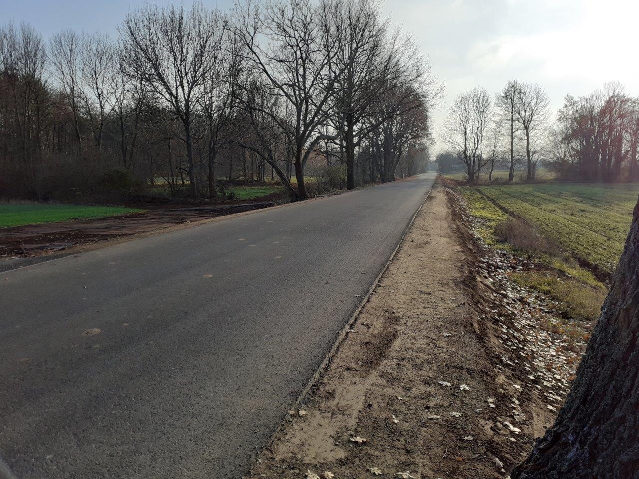 Auch die Ortsverbindungsstraße wurde im Teilbereich erneuert. Foto: Bauamt Calau