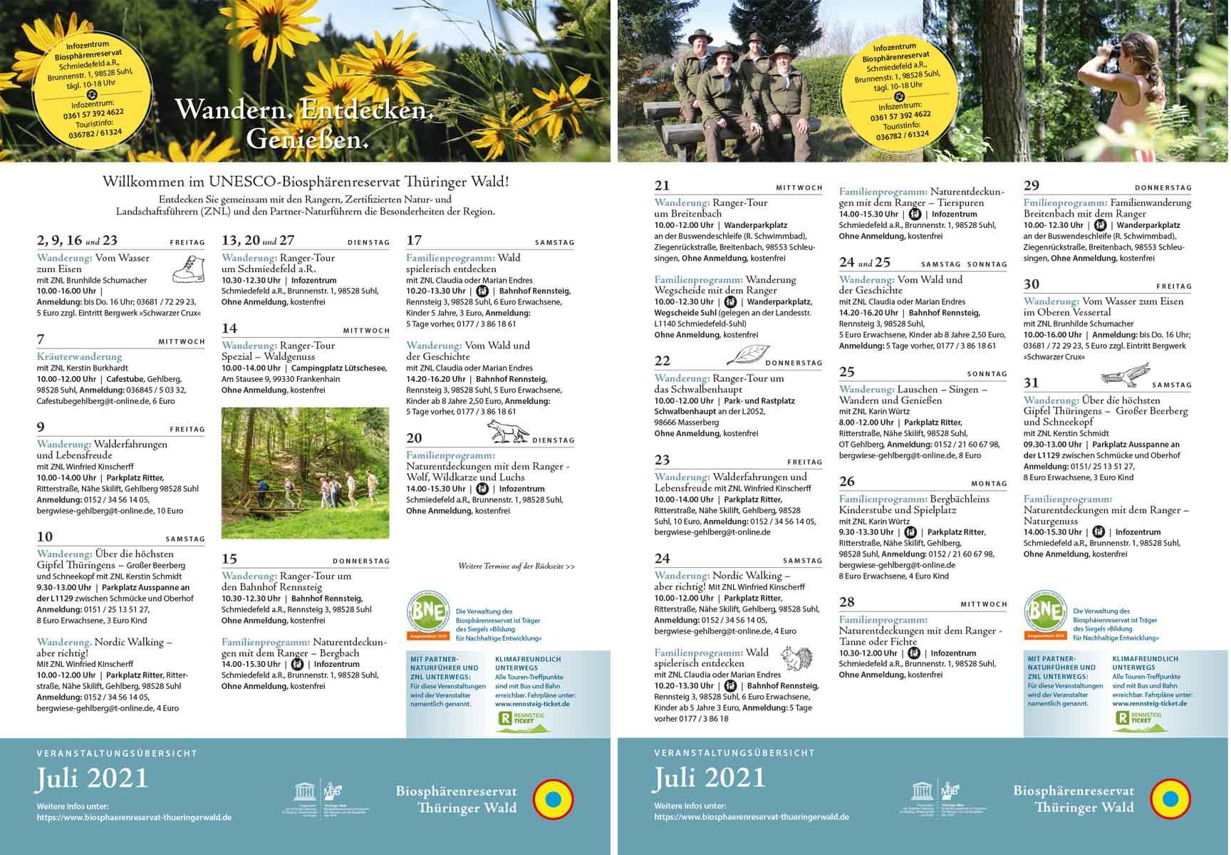 Programm Juli 2021_UNESCO-Biosphaerenreservat Thueringer Wald