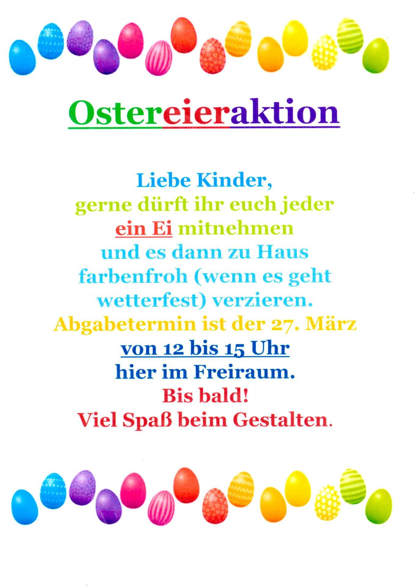 Ostereieraktion für Kinder
