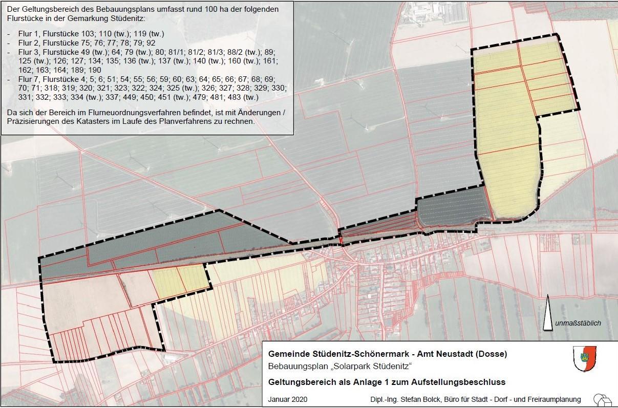 """frühzeitige Beteiligung B-Plan """"Solarpark Stüdenitz"""""""