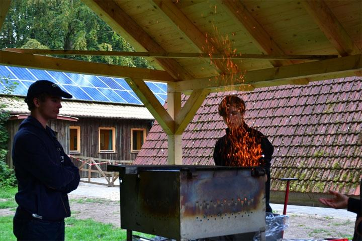 Vorbereitung des Grills