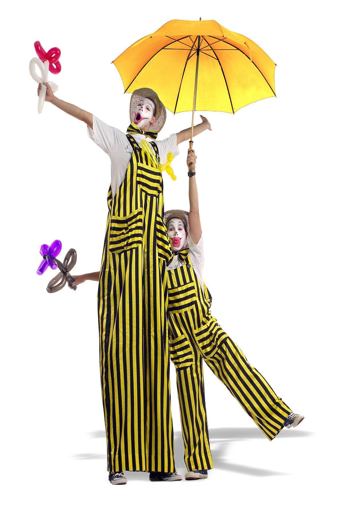 Stelzen-Clowns