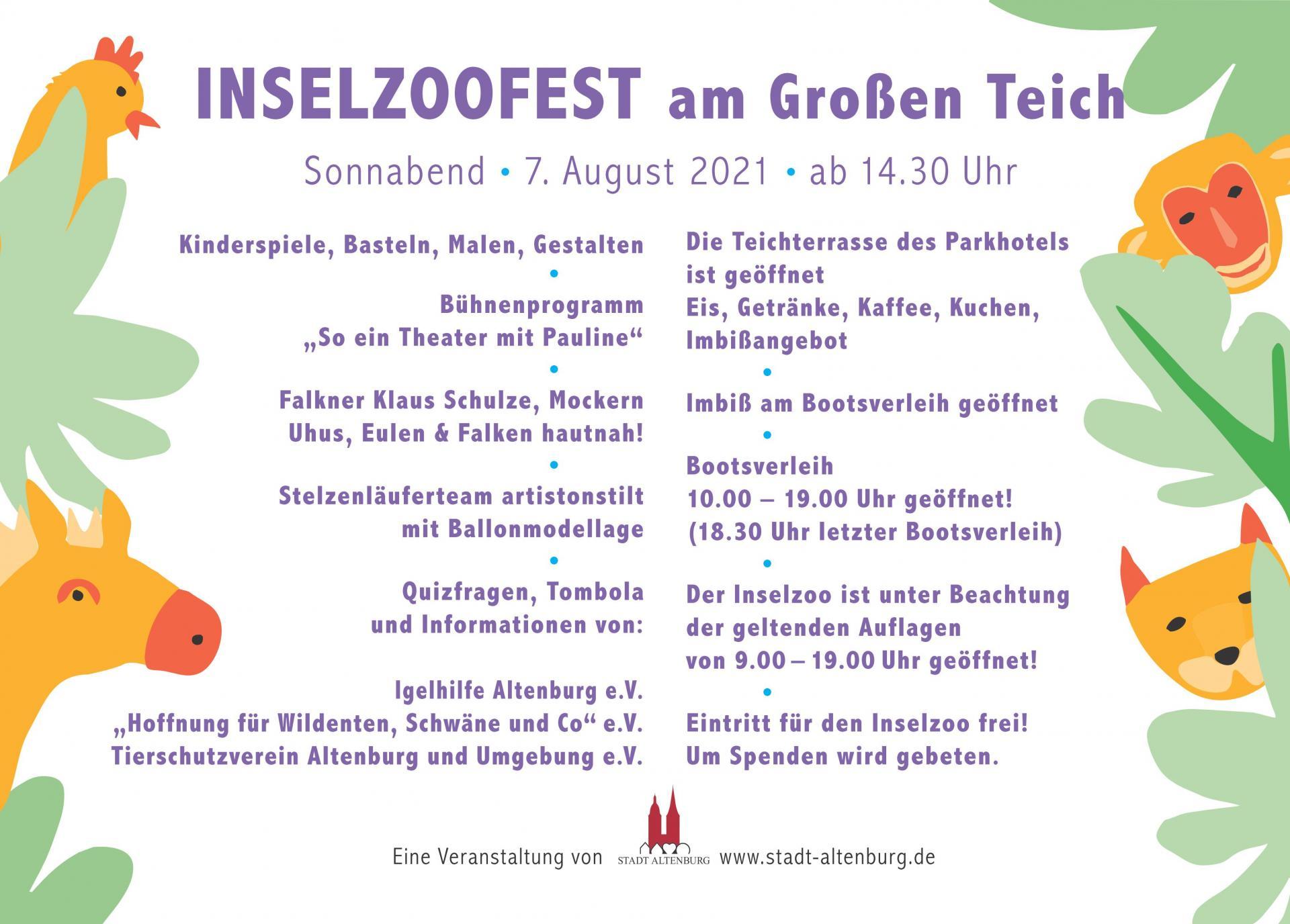 Programm Inselzoofest 2021