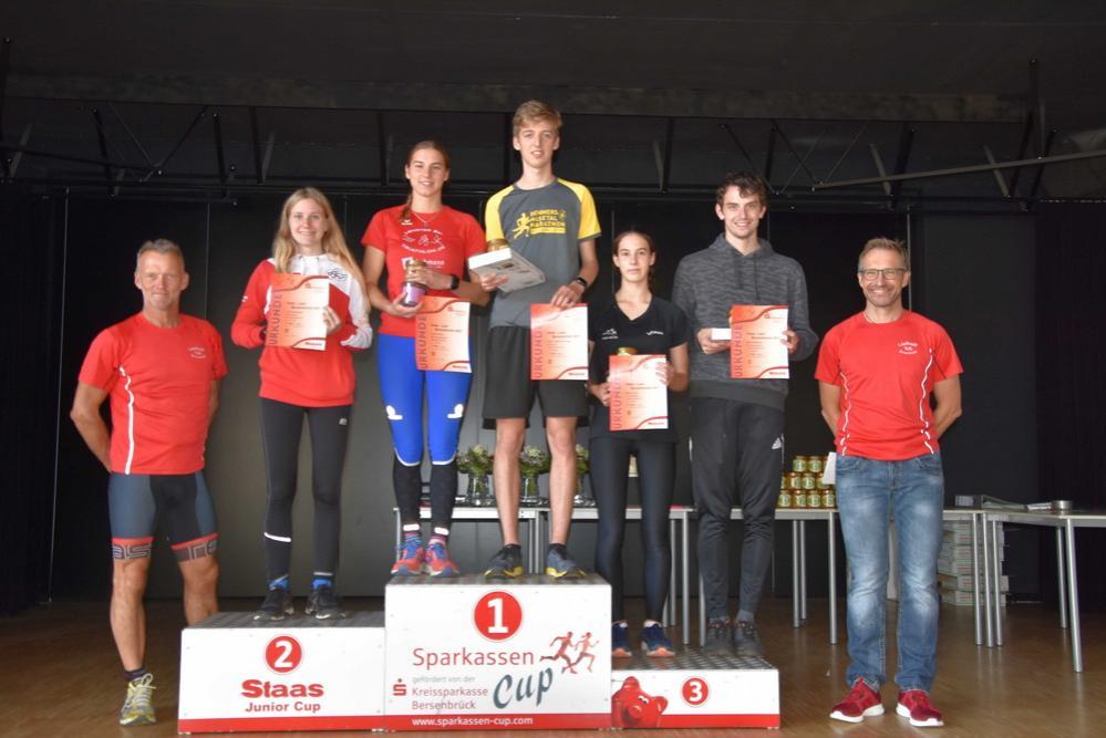 Siegerinnen und Sieger im 5,2 km Lauf