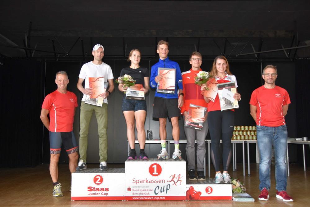 Siegerinnen und Sieger im 9,6 km Lauf