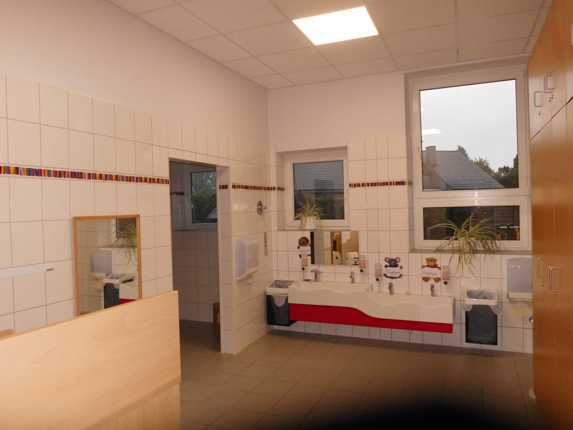 Renovierter Waschraum