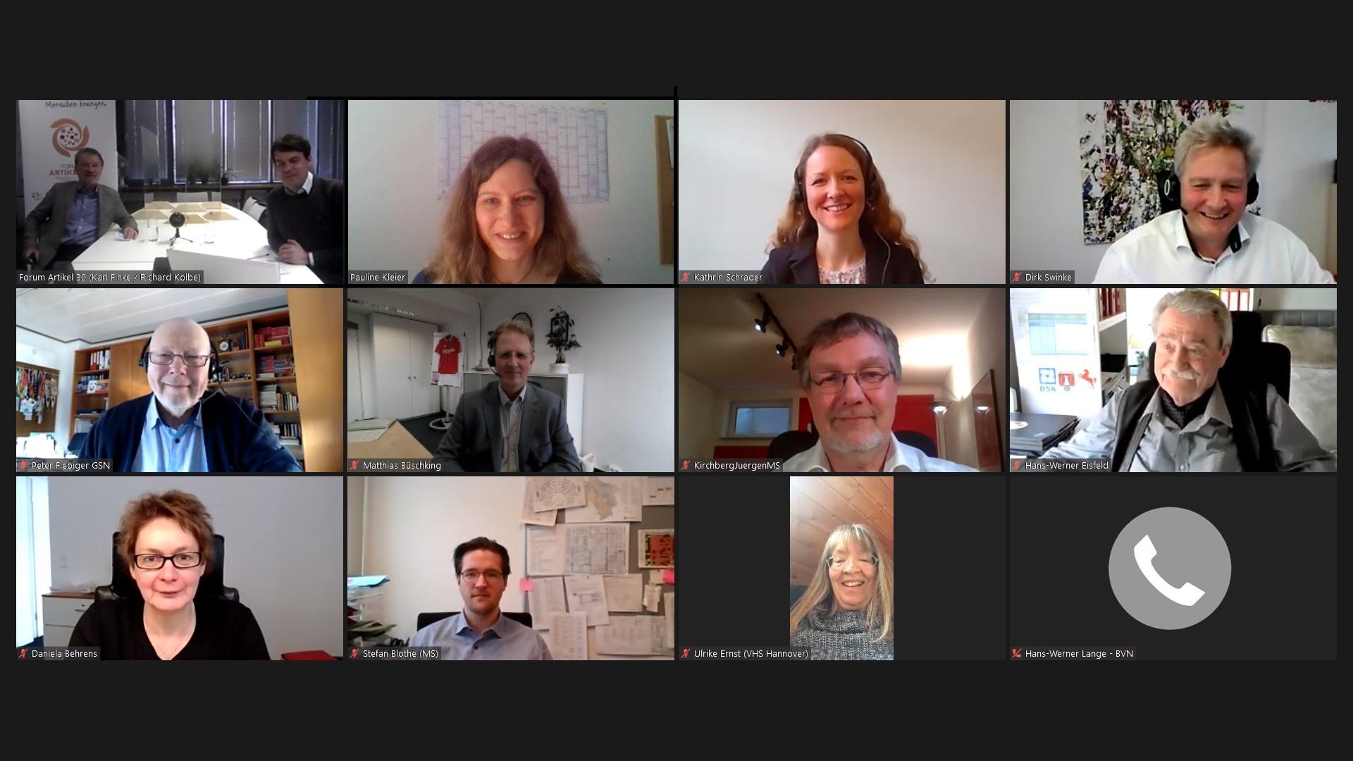 Teilnehmer der digitalen Übergabe