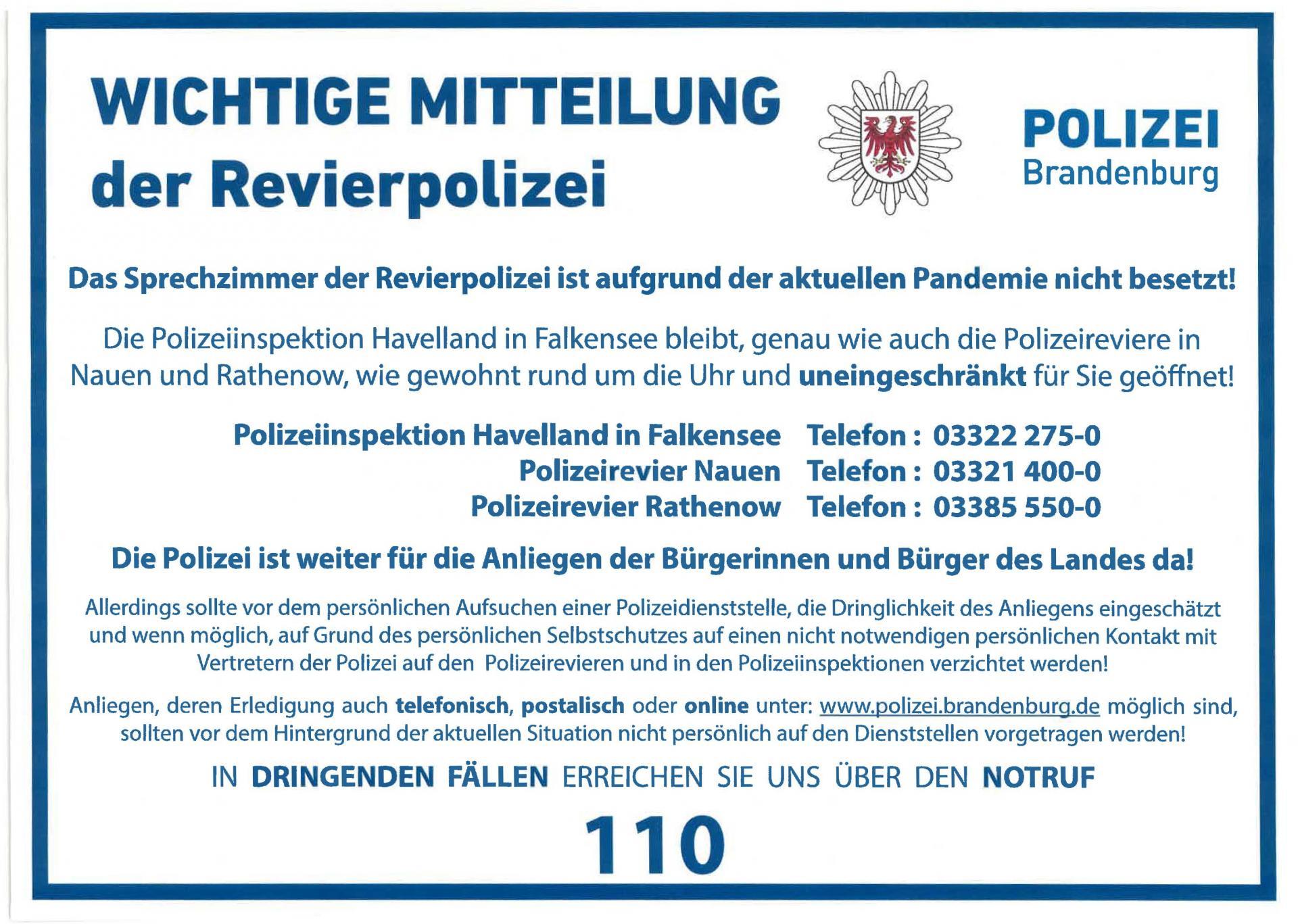 Mitteilung der Polizei
