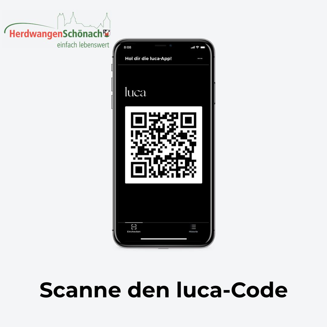 Scanne die Luca-App