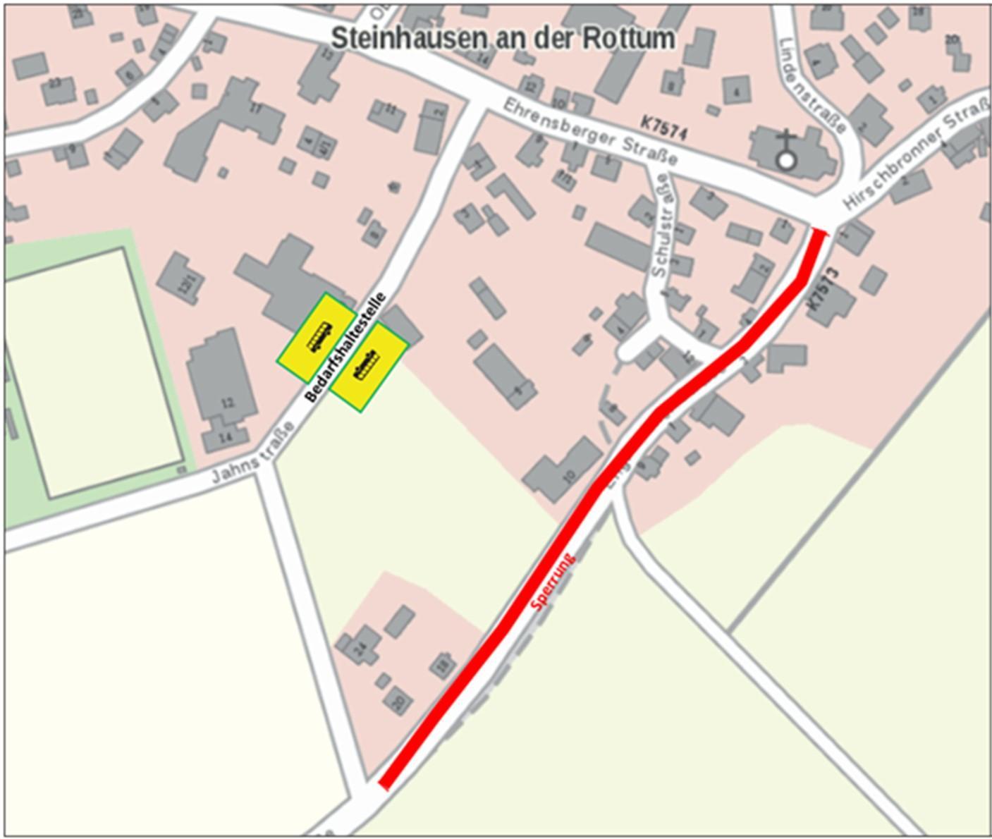 Sperrung Englisweiler Straße