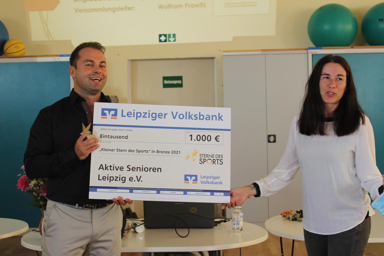Überreichung des Kleinen Stern des Sports mit einem Preisgeld von 1.000€ an unseren 1. Vorstandsvorsitzenden René Rößler