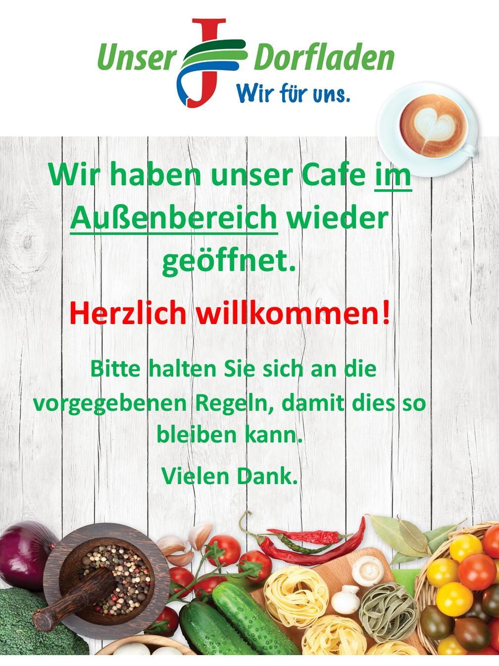 Cafe wieder geöffnet