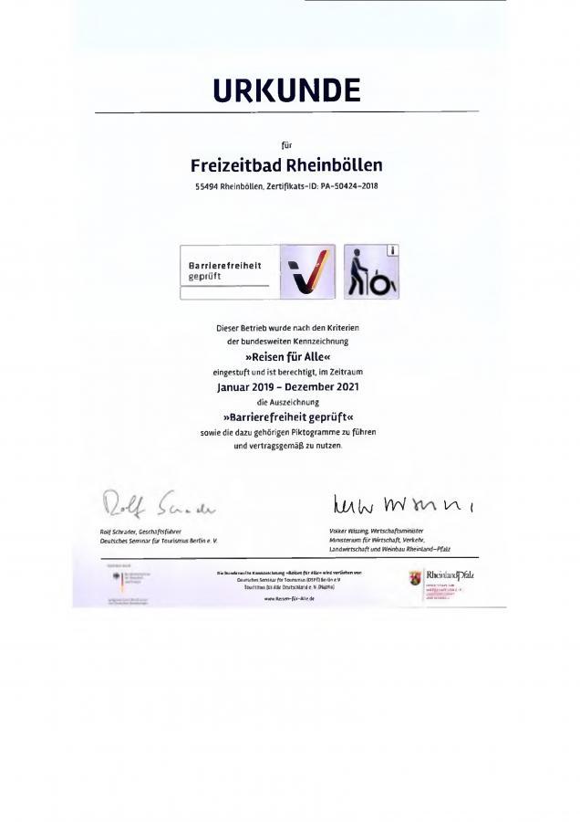 Urkunde Zertifizierung FZB