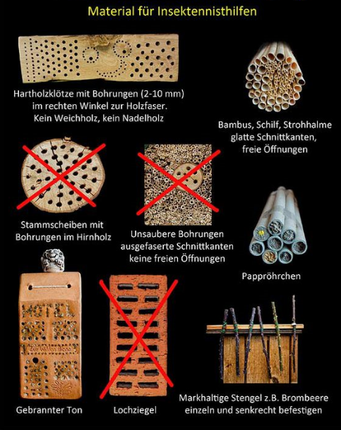 Material für Insektenhotel