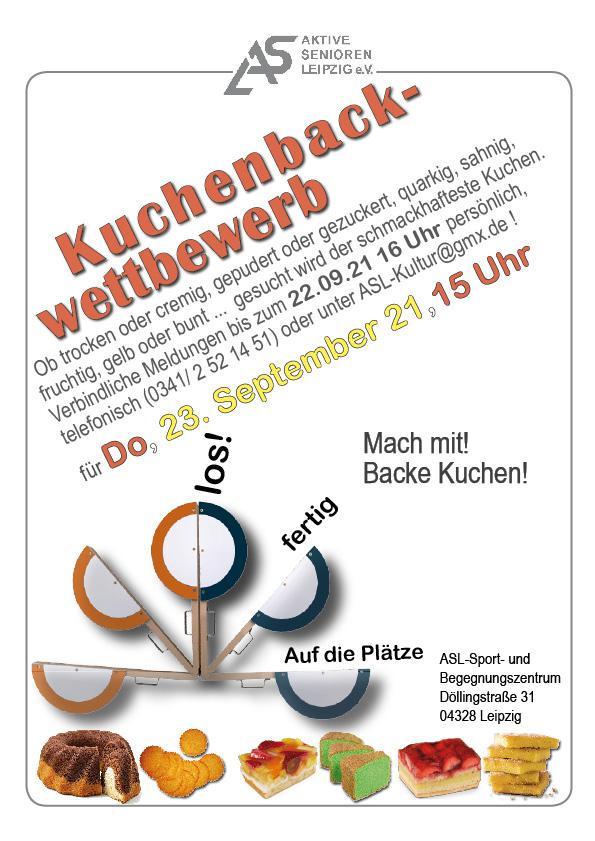 Plakat zum Kuchenbackwettbewerb