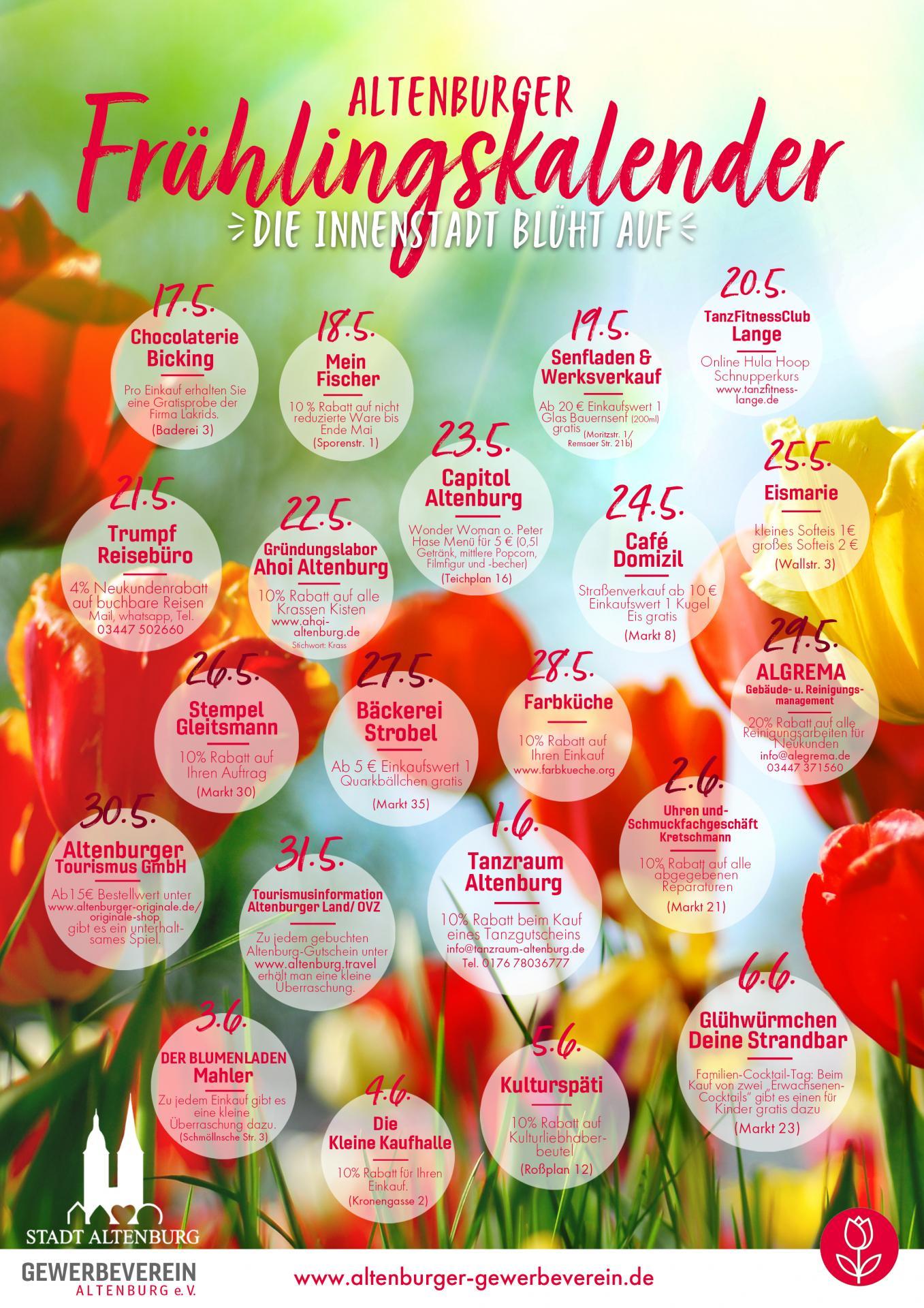 Frühlingskalender