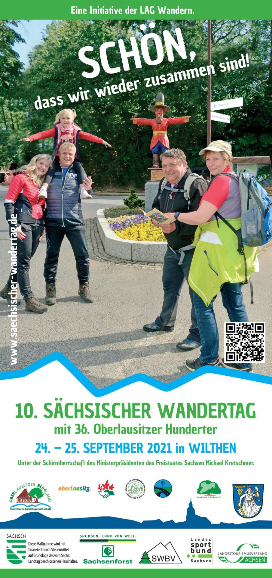 Titelblatt Broschüre Sächsischer Wandertag 2021
