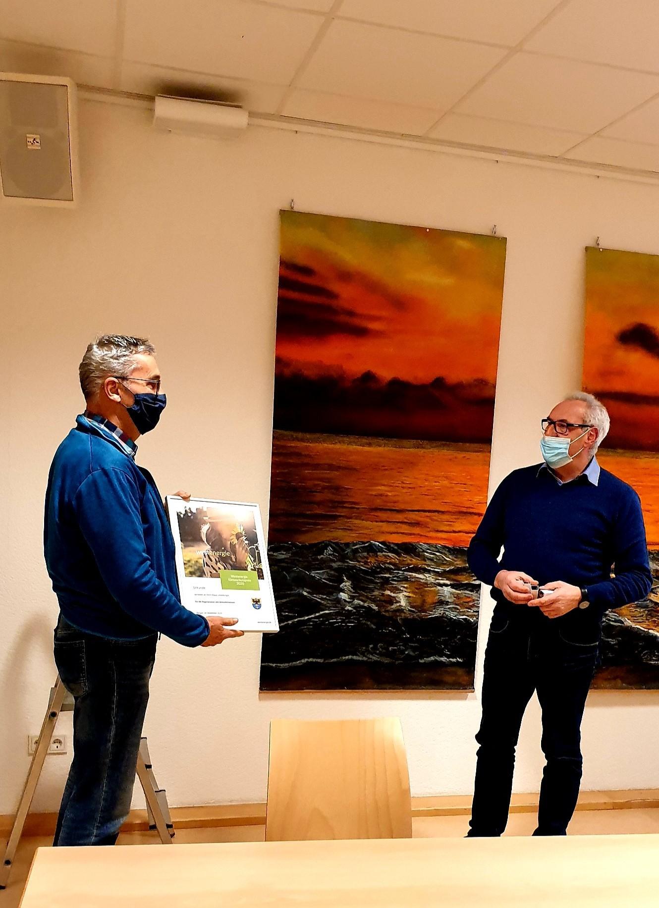 innogy-Klimaschutzpreis an Klaus Litzenburger ©SonjaMüller