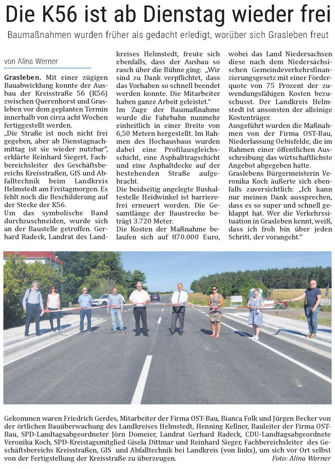 Artikel aus dem Helmstedter Sonntag vom 02.08.2020 (Autorin: Alina Werner)