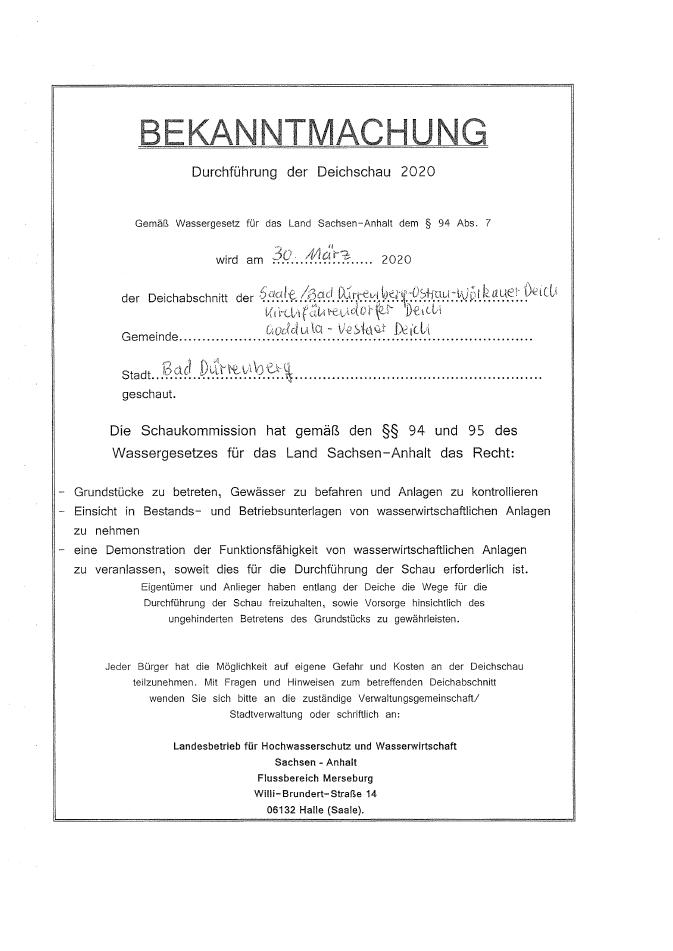 Deichschau 2020