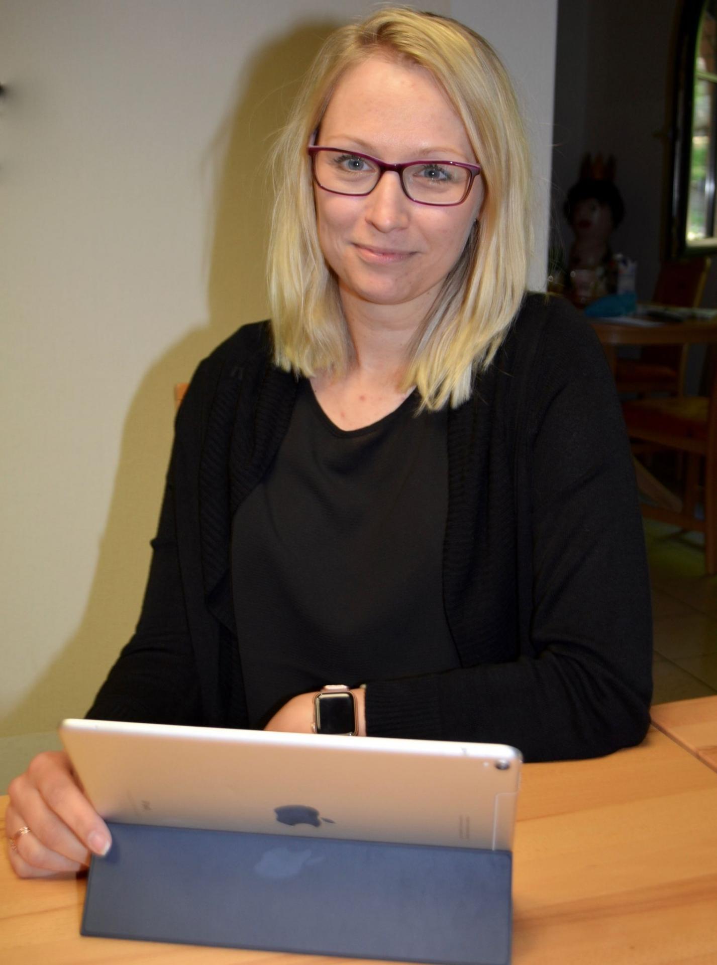 Katja Schachtschneider ist mit dem Distanzunterricht im Gymnasium ihrer Tochter in Königs Wusterhausen nicht zufrieden. Foto: Andreas Staindl