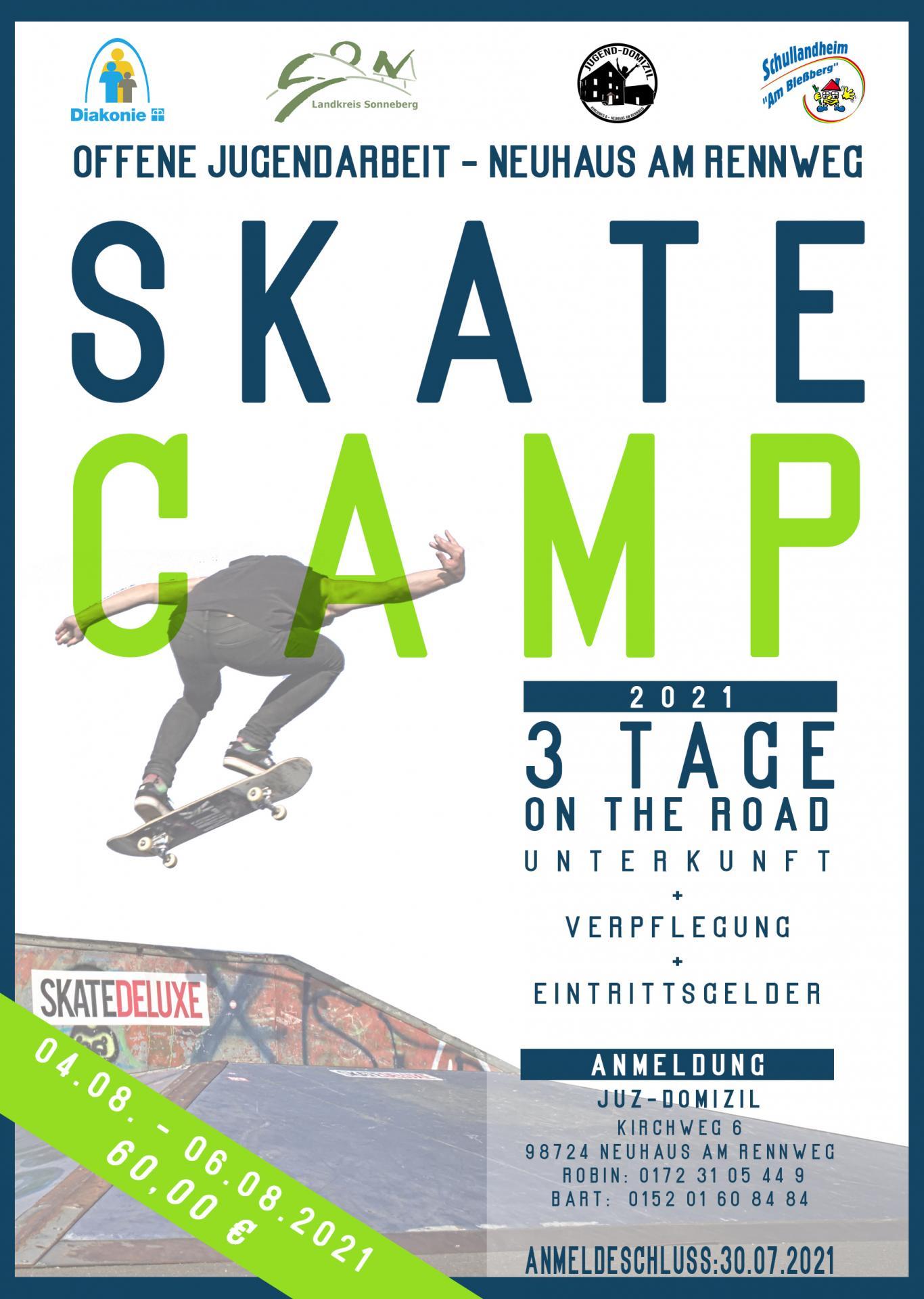 Flyer Anmeldung Skatcamp
