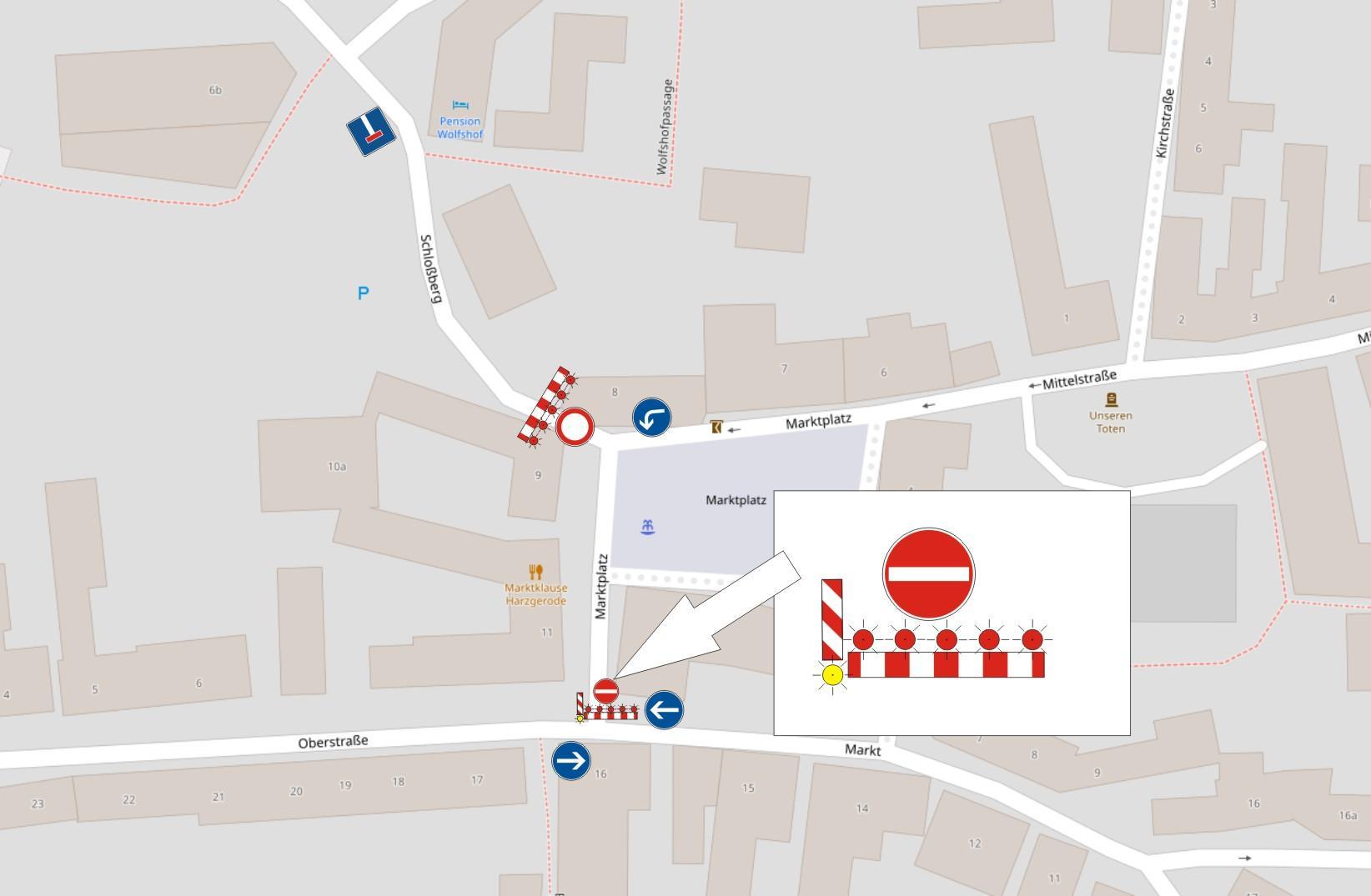 Verkehrszreichenplan Marktplatz 8