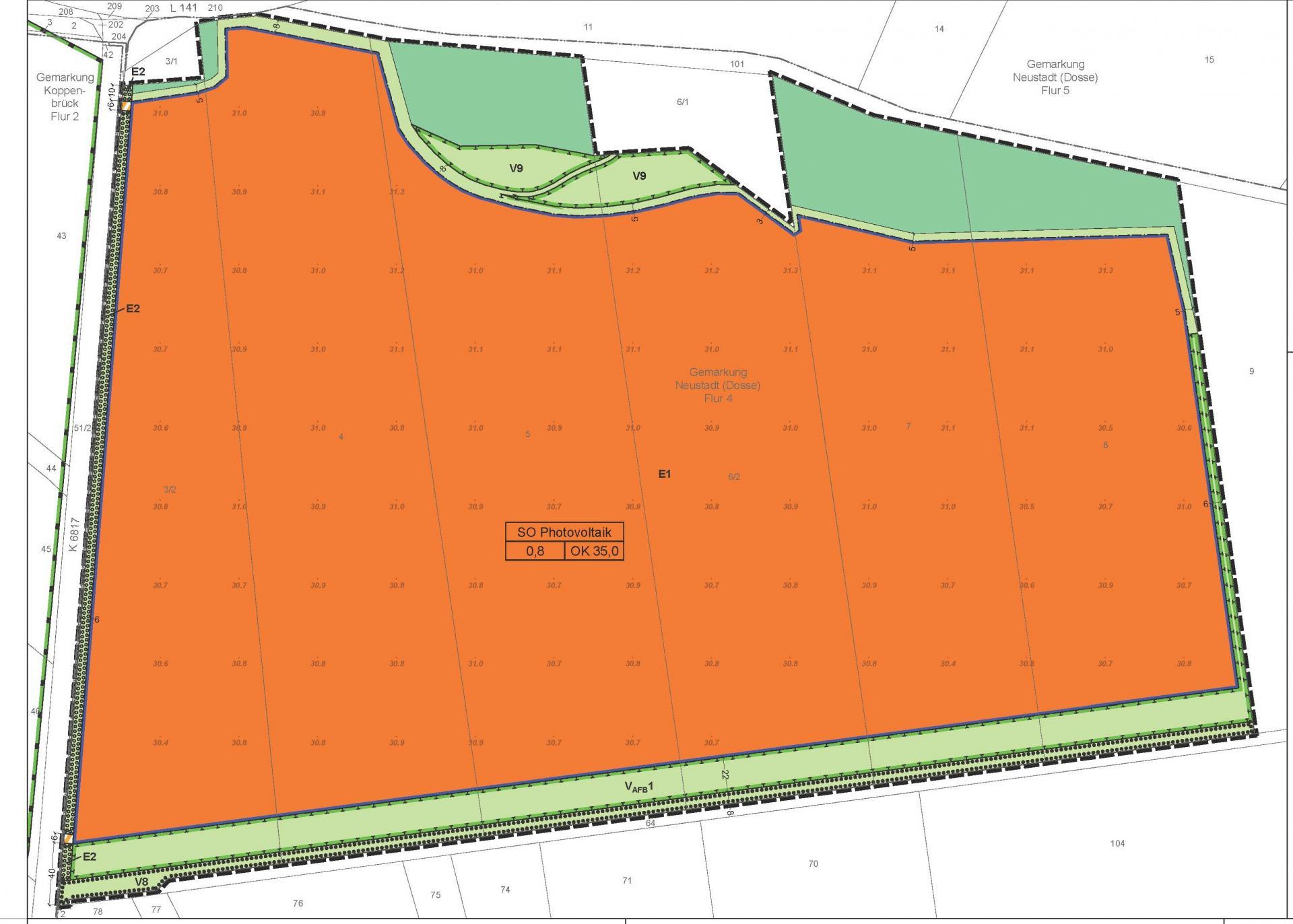 Planzeichnung B-Plan Wolfsgarten