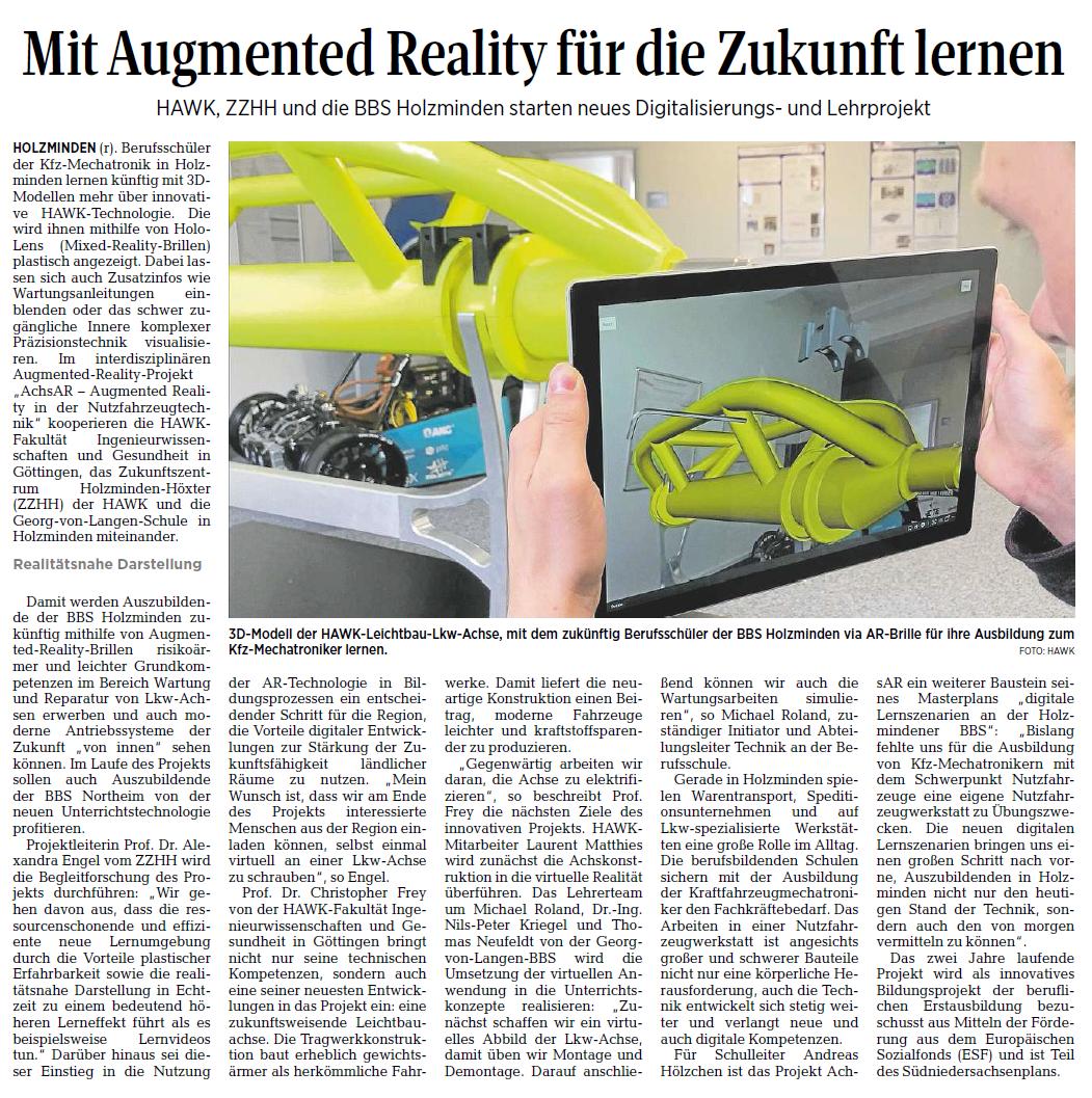 Mit Augmented Reality für die Zukunft lernen