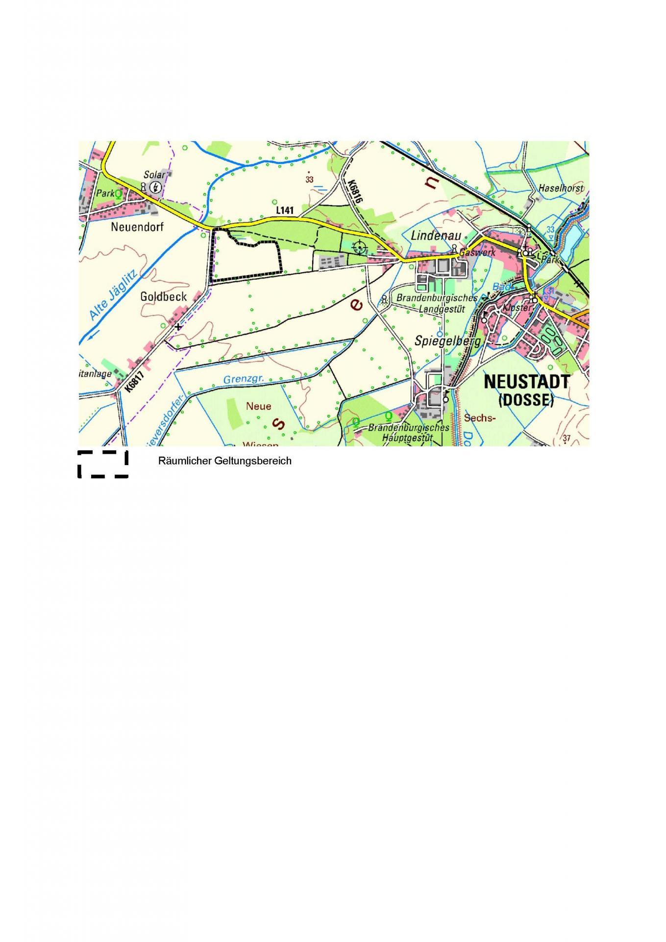 Räumlicher Geltungsbereich 5. Änderung FNP Stadt Neustadt (Dosse)