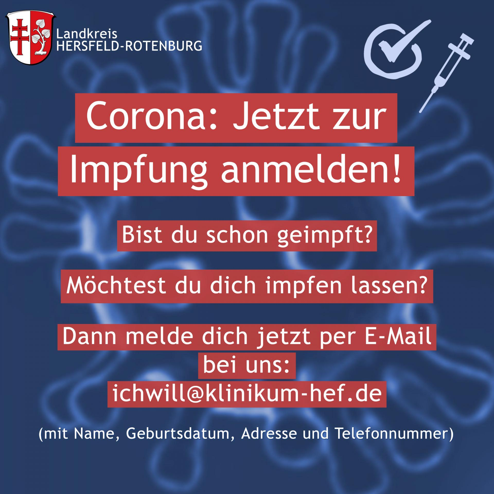 Impfkampagne des Landkreises Hersfeld-Rotenburg
