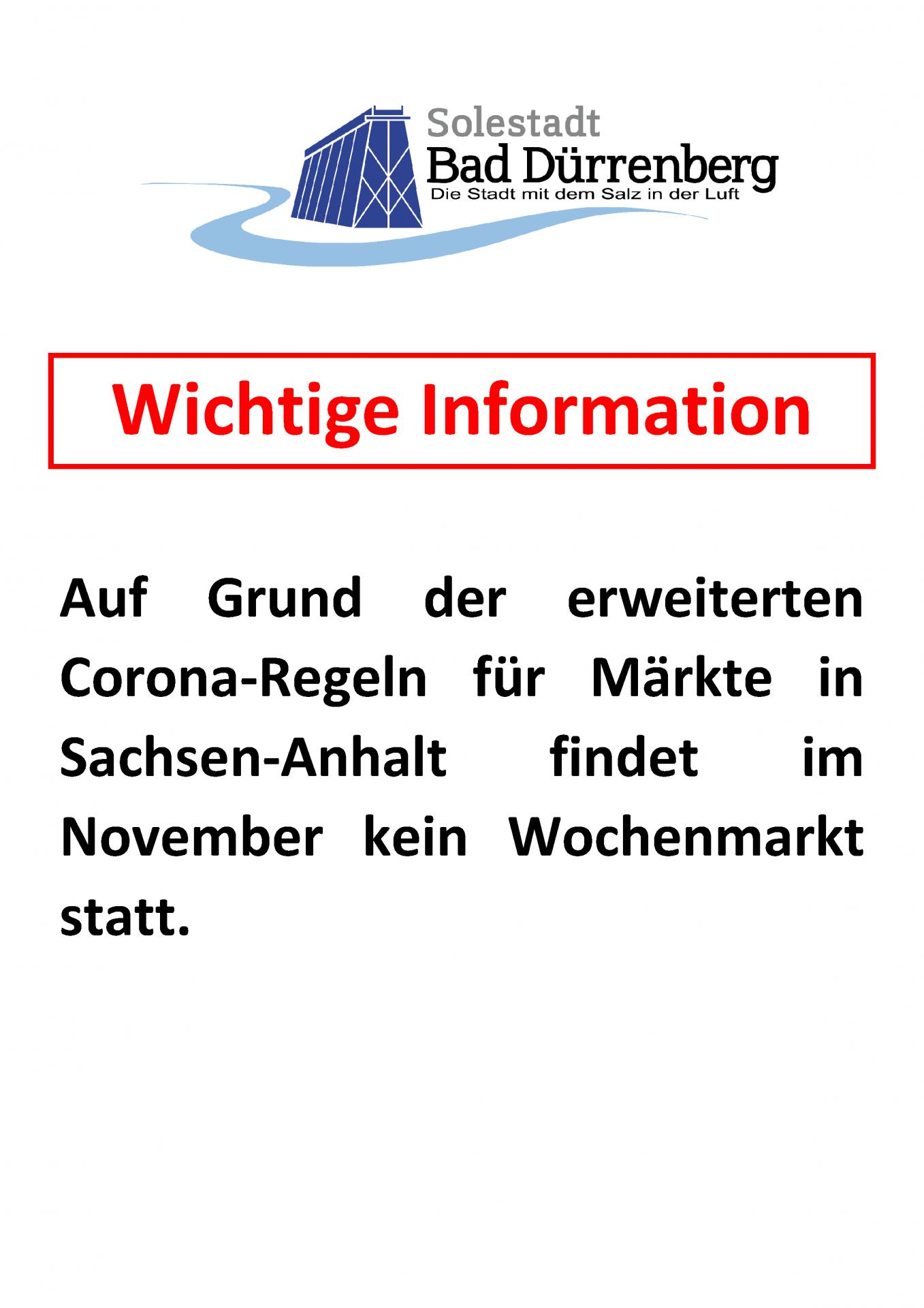 Information Wochenmarkt