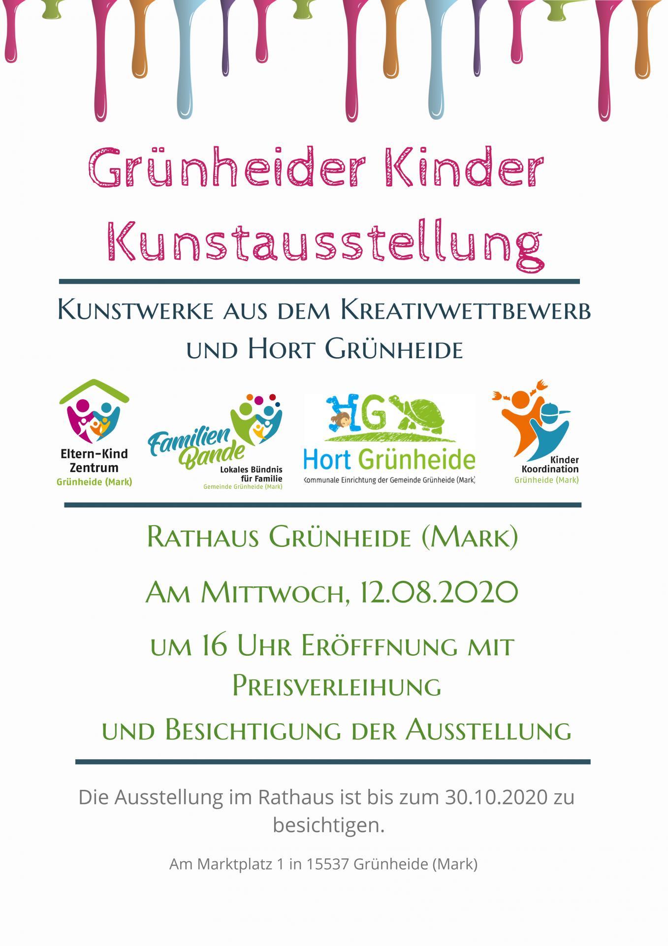 Kinder-Kunstausstellung Grünheide