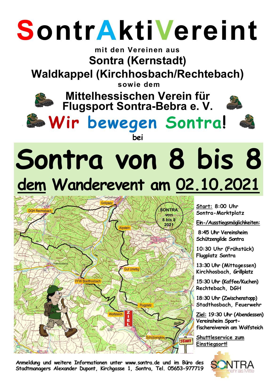Plakat Sontra von 8 bis 8 in 2021