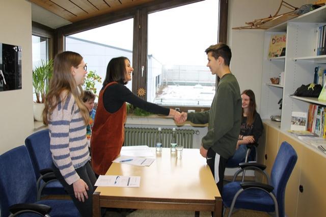 Auch auf das korrekte Verhalten der Schülerinnen und Schüler wurde geachtet.