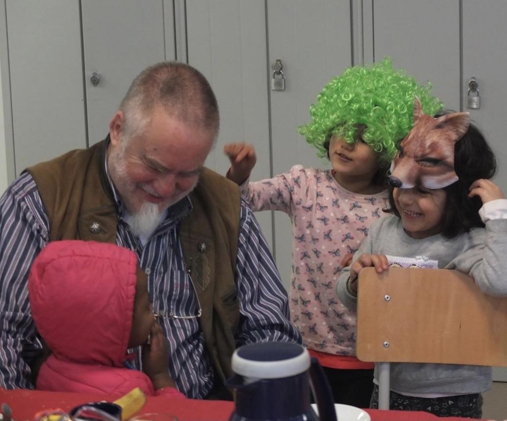 Rainer mit Kids