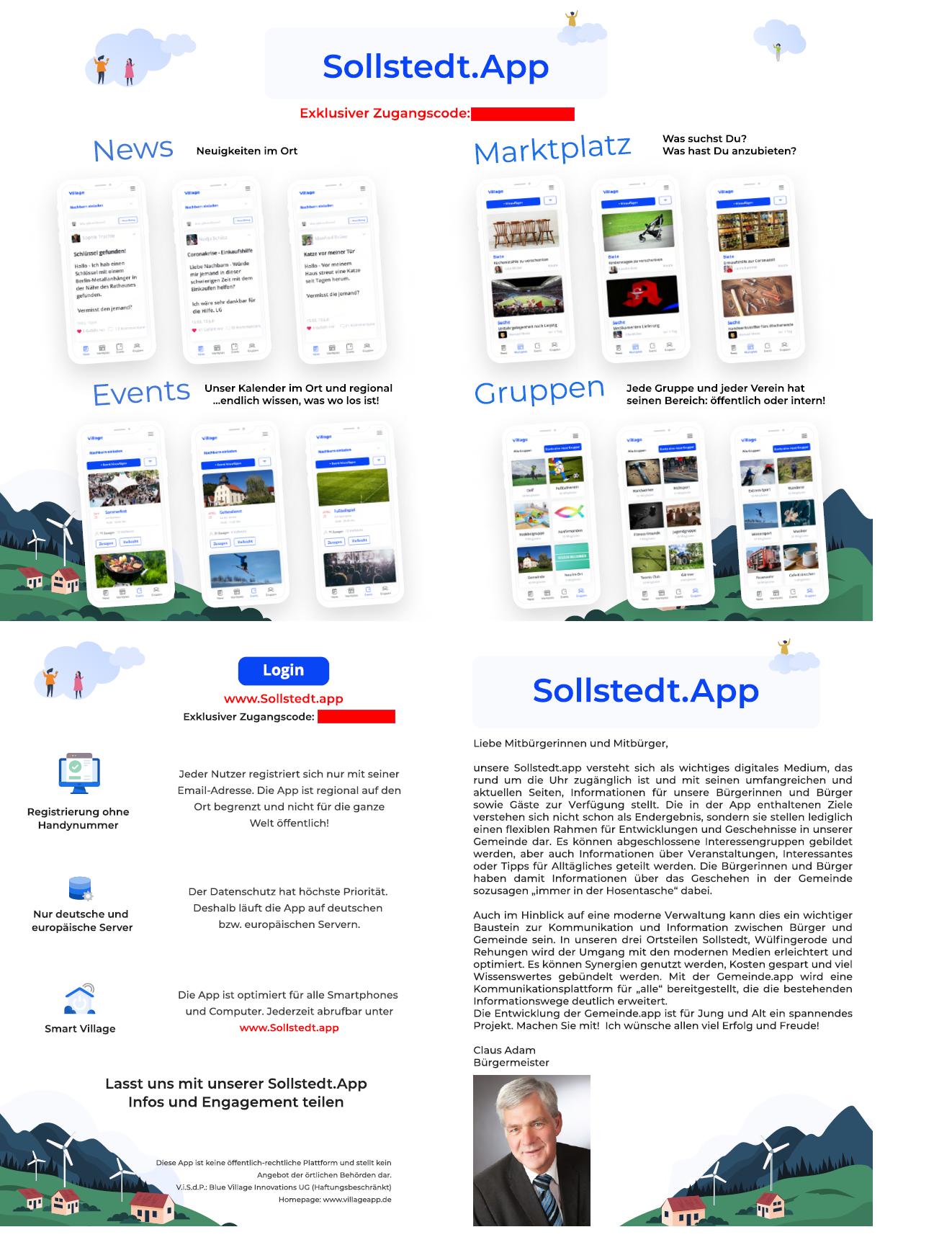 Flyer Sollstedt App