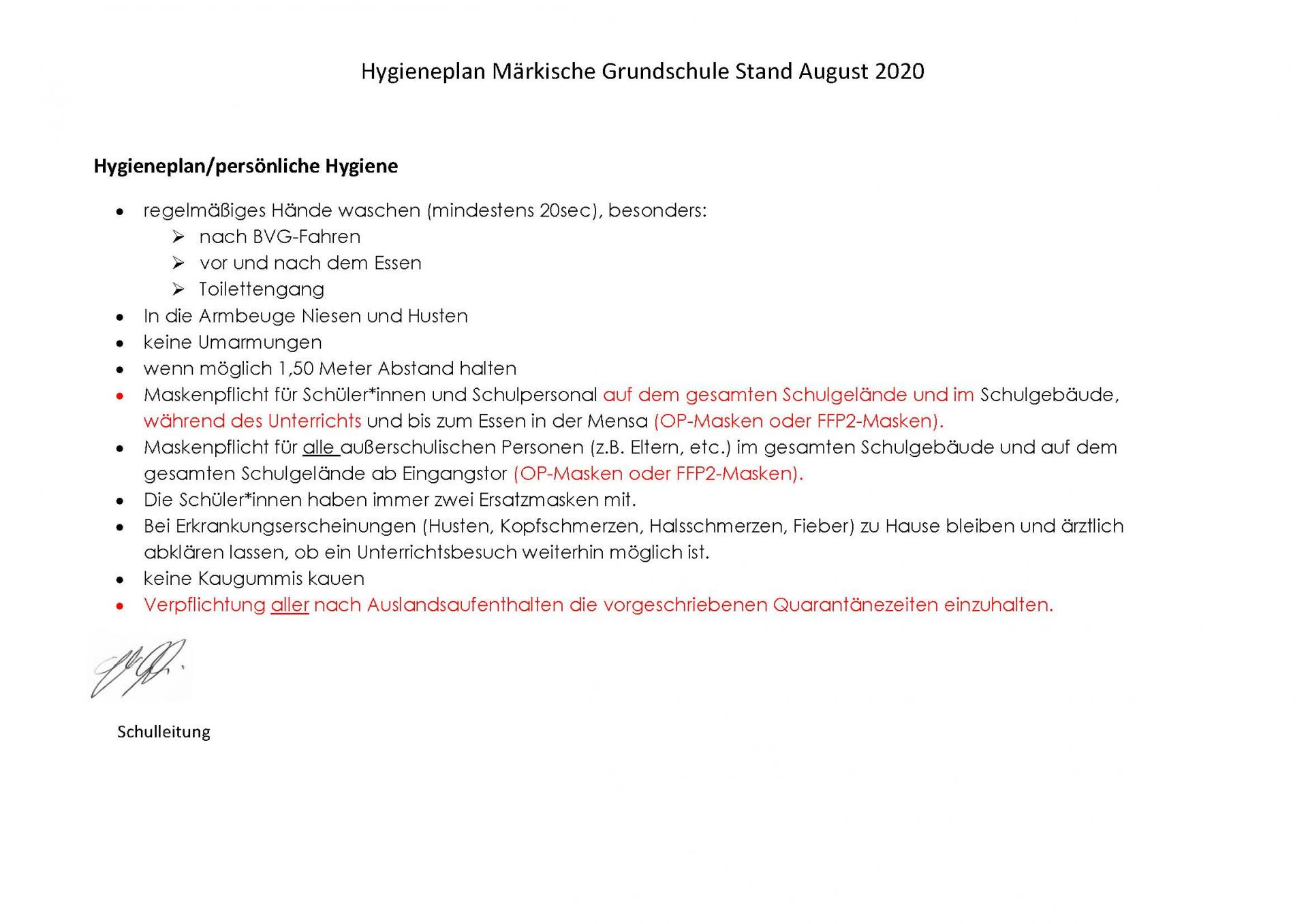 Hygieneplan - Stand März 2021 - Seite 2