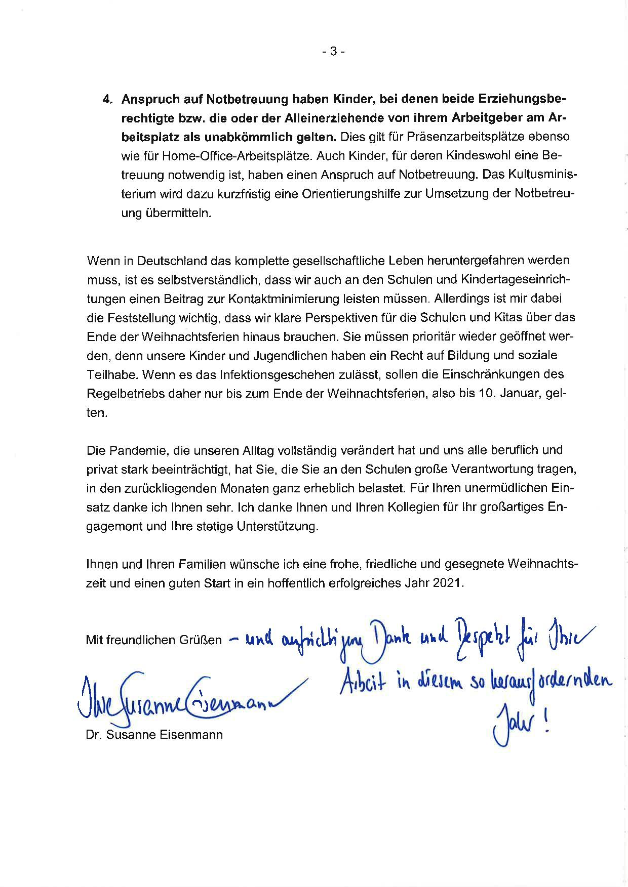 2020-12-14 Ministerin-Schreiben - Schließung der Schulen-003