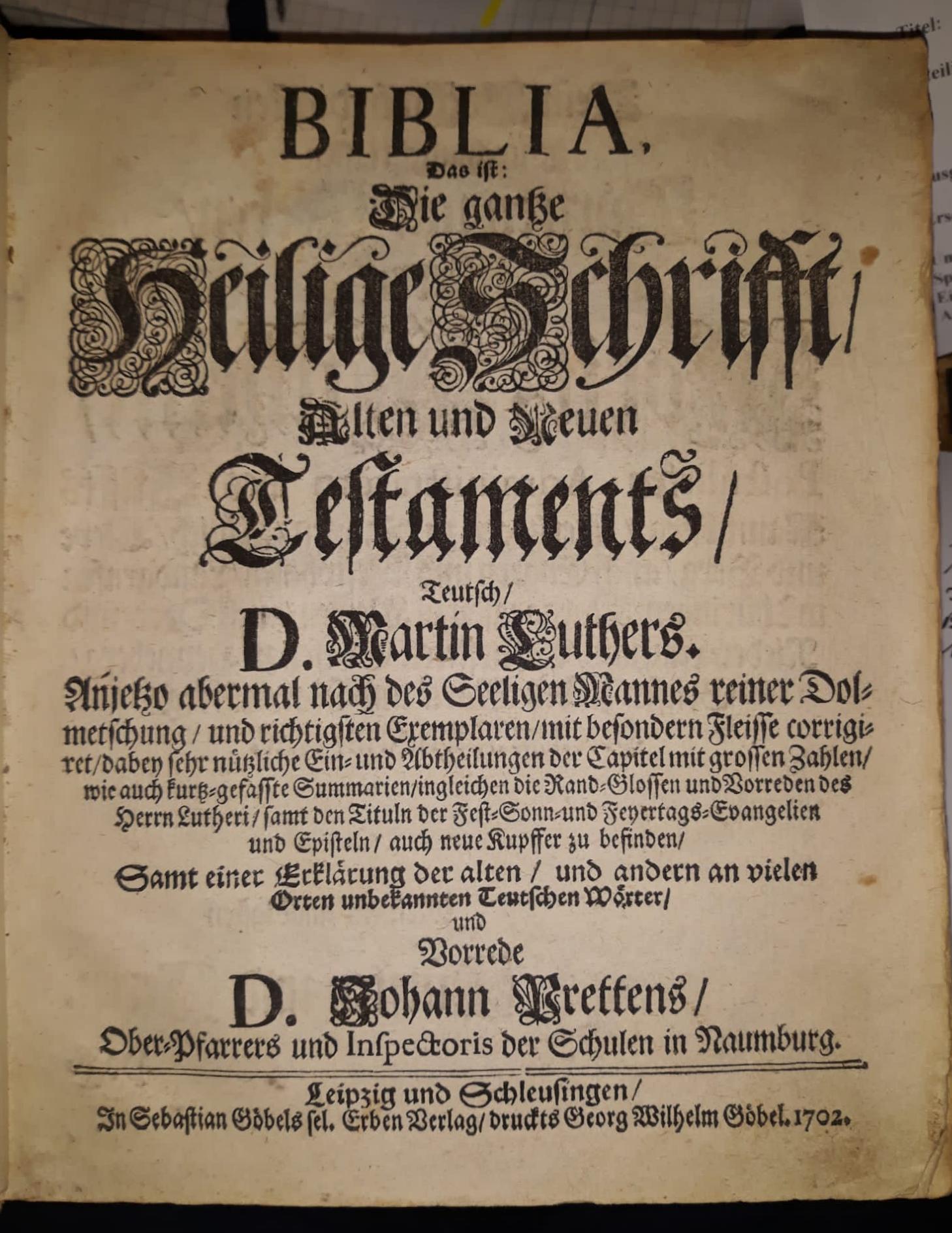 Bibel Naumburg 1702