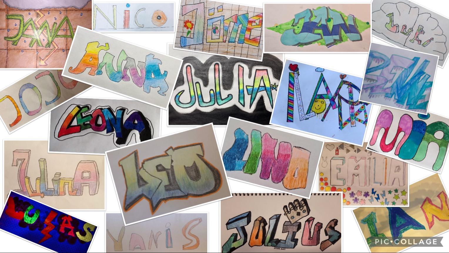 Collage der Schüler:innenarbeiten
