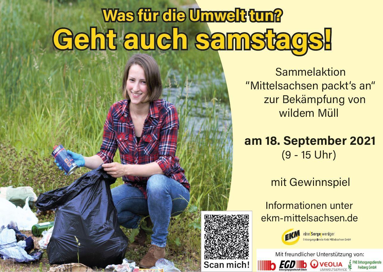 Abfallsammelaktion in Mittelsachsen am 18. September 2021